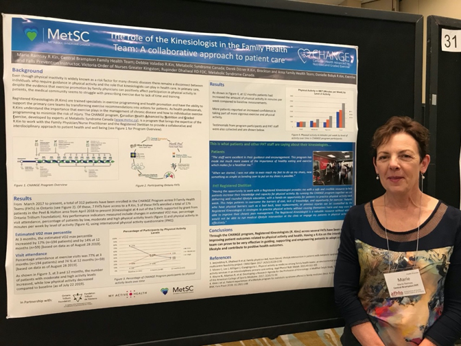 Marie Ramsay presents poster at AFHTO