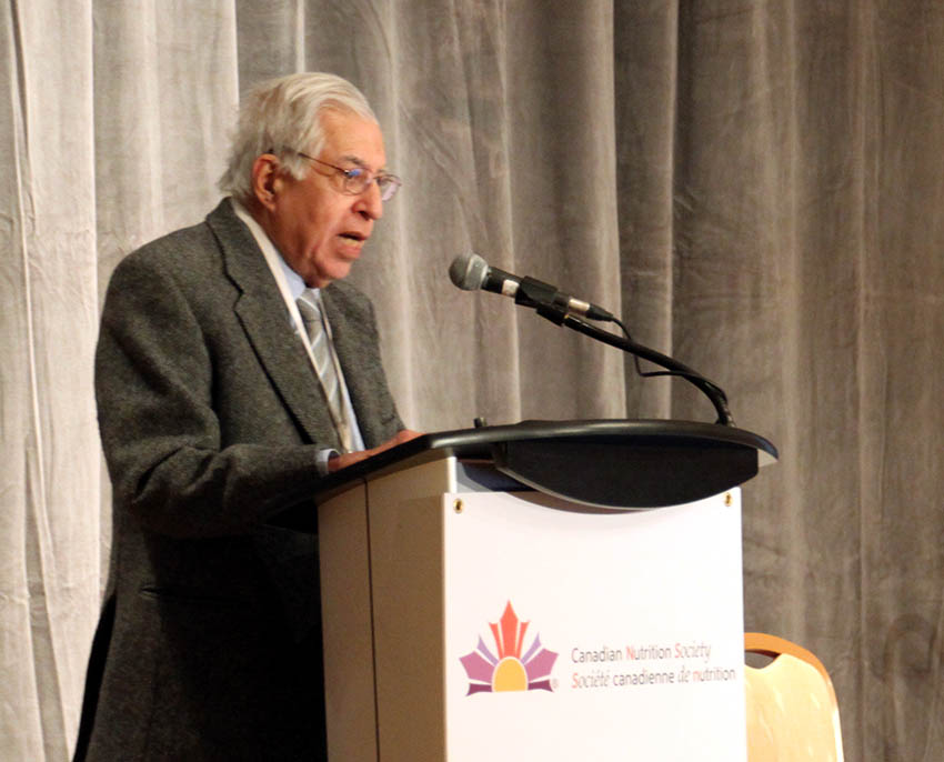 Dr. Kursheed Jeejeebhoy presents at the Canadian Nutrition Society thematic meeting on metabolic syndrome in January 2016